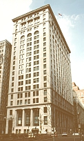 Recent photograph of the  Frick Building in Downtown Pittsburgh.