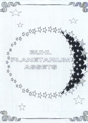 Cover Page of Buhl Planetarium Assets report